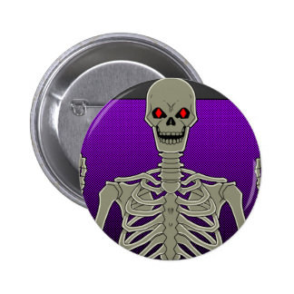 Skeleton Poker Flip 6 Cm Round Badge
