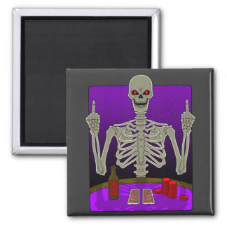 Skeleton Poker Flip Refrigerator Magnets