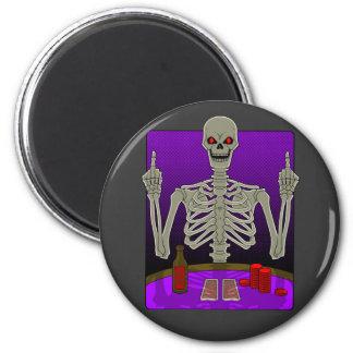 Skeleton Poker Flip Magnet