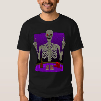 Skeleton Poker Flip Tee Shirts