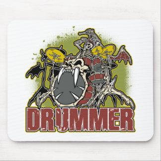 Skeleton Rock Drummer Mouse Mat