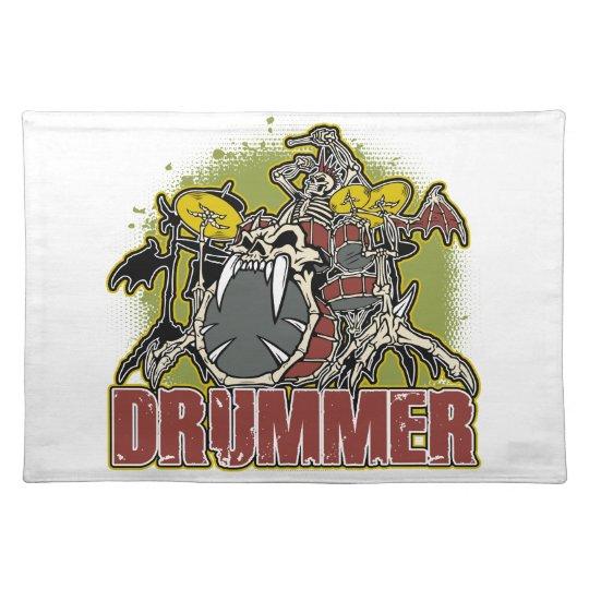 Skeleton Rock Drummer Placemat