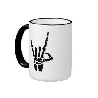 Skeleton rock hand mugs