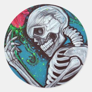 Skeleton Rose Stickers