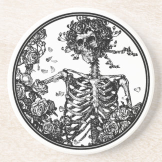 Skeleton & Roses Beverage Coaster