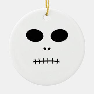 Skeleton Round Ceramic Decoration