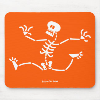 Skeleton Running Away Mouse Pad