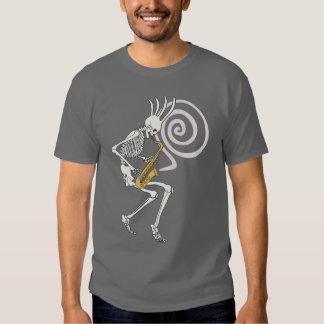 Skeleton Saxophone T Shirts
