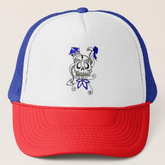 Skeleton scull  girls hat! trucker hat