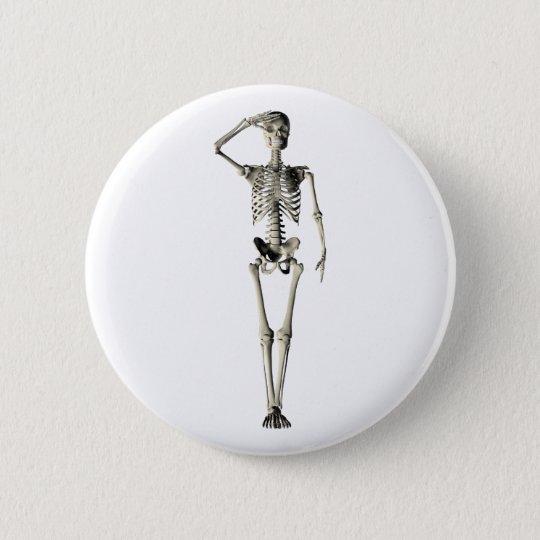 Skeleton skeleton 6 cm round badge