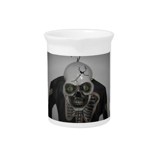 Skeleton Skull Halloween Pitcher