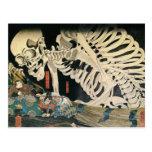 Skeleton Spectre by Kuniyoshi Utagawa Postcard