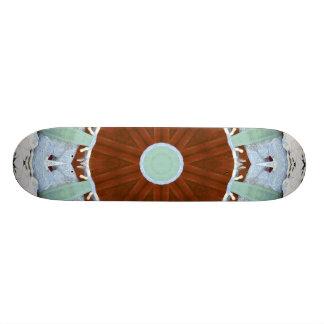 Skeleton Swirl Red Board Skate Board