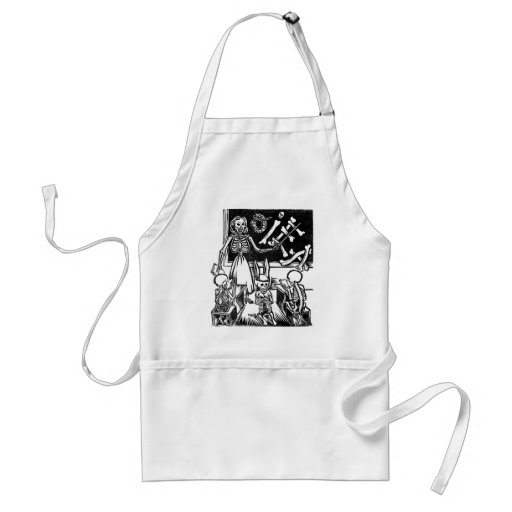 "Skeleton Teacher and Students ""Day of the Dead"" Aprons"