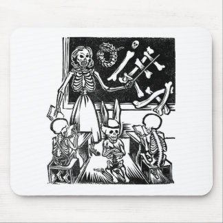 "Skeleton Teacher and Students ""Day of the Dead"" Mouse Mat"