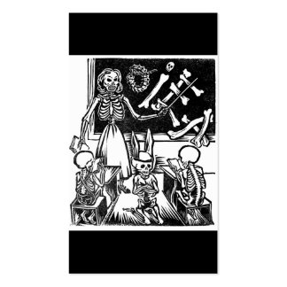 "Skeleton Teacher and Students ""Day of the Dead"" Pack Of Standard Business Cards"