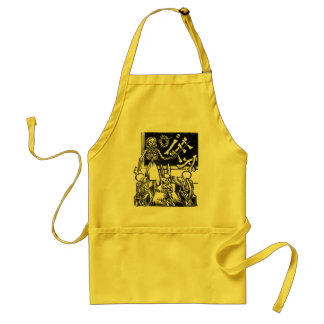 """Skeleton Teacher and Students """"Day of the Dead"""" Standard Apron"""