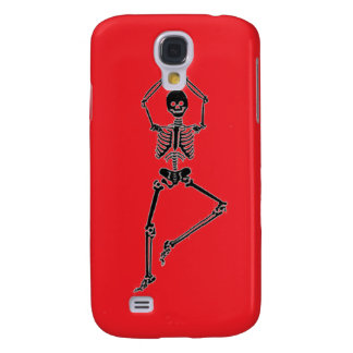 Skeleton Tree Pose - Red iPhone Case Galaxy S4 Covers