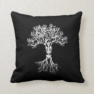 Skeleton Tree Throw Decor Pillow