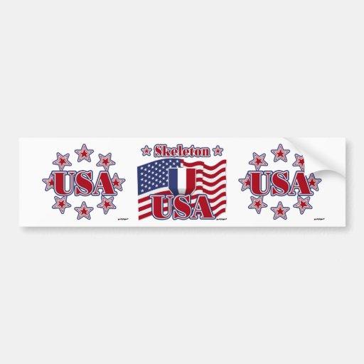 Skeleton USA Bumper Stickers