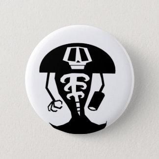Skeleton warrior 6 cm round badge