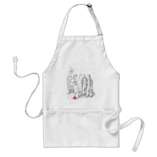 Skeleton Wearing Cap and Gown Standard Apron