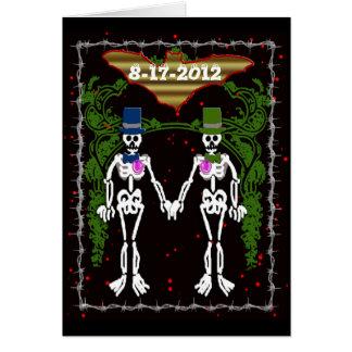 skeleton wedding 2 greeting card