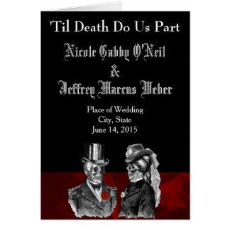 Skeleton Wedding Program Card