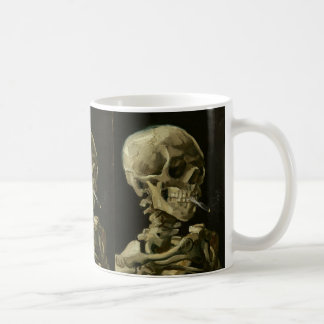 Skeleton with cigarette by Van Gogh Mug