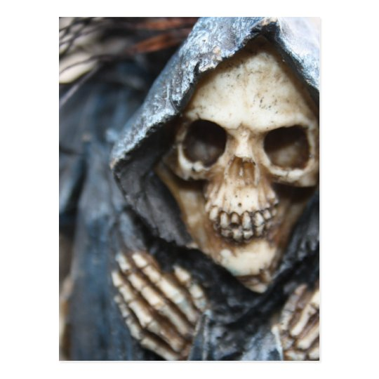 Skeleton with Hood Post Card