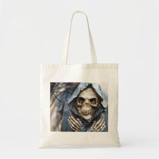 Skeleton with Hood Tote Bag