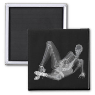 Skeleton woman sexy radiography magnet