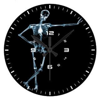 skeleton x-ray wall clock