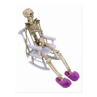 SkeletonFuzzySlippersRocker030310 Postcard