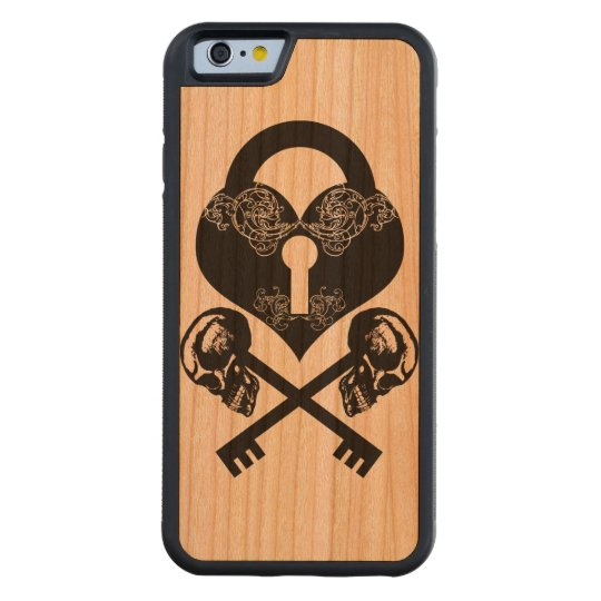 SkeletonKey Carved Cherry iPhone 6 Bumper Case