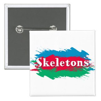 Skeletons 15 Cm Square Badge