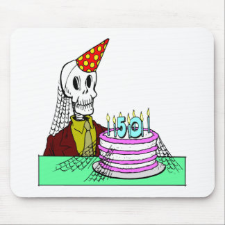 Skeletons 50th Birthday Gifts Mouse Pad