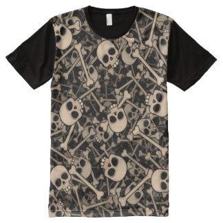 Skeletons All-Over Print T-Shirt