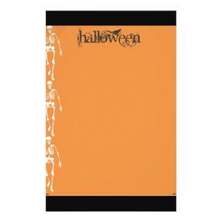 Skeletons and spiders Halloween Flyer