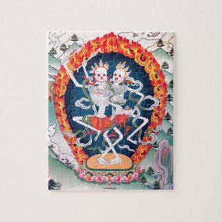 Skeletons Dancing Tibetan Buddhist Art Puzzle