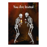 Skeletons Halloween Party Invitation 13 Cm X 18 Cm Invitation Card