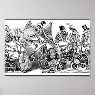 Skeletons on Bikes, Mexico Poster