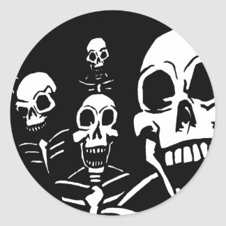 Skeletons Classic Round Sticker