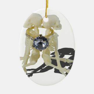 SkeletonsChokedByEngagementRing070515 Christmas Ornament