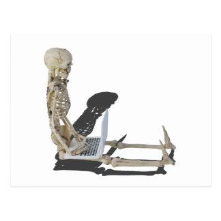 SkeletonWithLaptop032215 Postcard