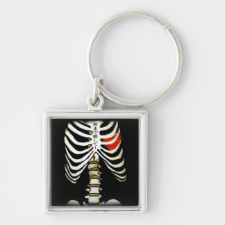 Skelton and Heart Keychain