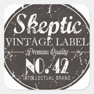 Skeptic Brand Gear Square Sticker