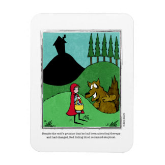 SKEPTICAL cartoon by Ellen Elliott Rectangular Photo Magnet