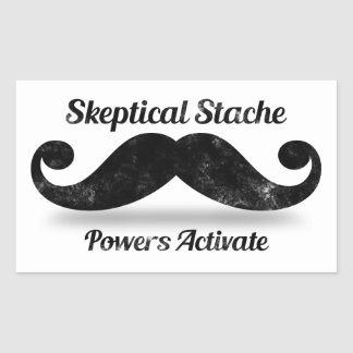 Skeptical Stache Powers Activate Rectangular Stickers
