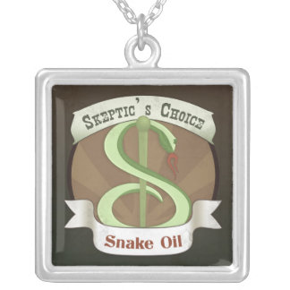 Skeptic's Choice Snake Oil Pendant Necklace